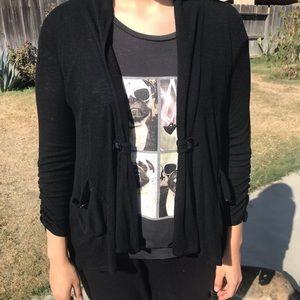 Dressy black casual cardigan